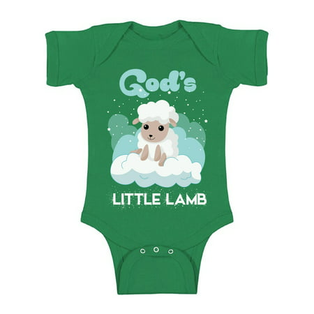 Awkward Styles God's Little Lamb Bodysuit Short Sleeve for Newborn Baby Birthday Gifts for 1 Year Old God Lover Religious Clothing for Baby Boy Baby Girl Christian Gifts Cute Religious (Gift For 1 Year Old Baby Girl Indian)