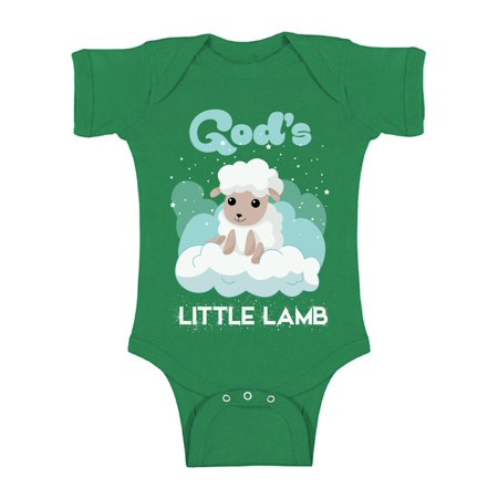 Awkward Styles God's Little Lamb Bodysuit Short Sleeve for Newborn Baby Birthday Gifts for 1 Year Old God Lover Religious Clothing for Baby Boy Baby Girl Christian Gifts Cute Religious Outfit Bloomers Baby Birthday Box