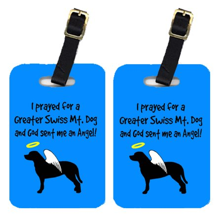 Pair of 2 Greater Swiss Mountain Dog Luggage Tags