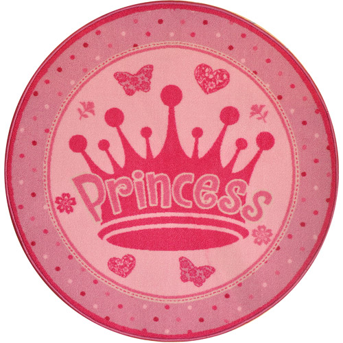 Mainstays Round Princess Accent Rug, Pink