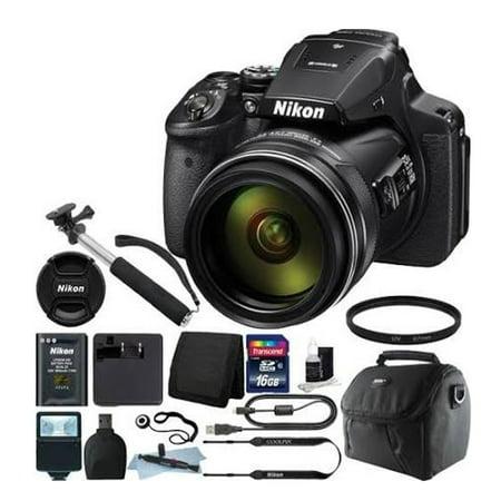 Nikon Coolpix P900 16.0 MP Compact Digital Camera - Black + Quality Accessory Bundle