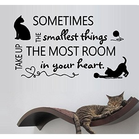 Heart Decal (Decal ~ Sometimes the smallest things take up the most room in your heart: Cats and Dogs, or Cats ~ Wall Decal 13