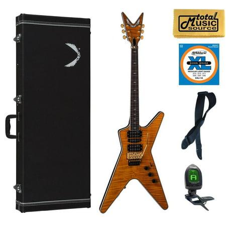 Amber Sb (Dean ML SB F TAM HSPACKSolid-Body Electric Guitar, Trans Amber, Case Bundle )