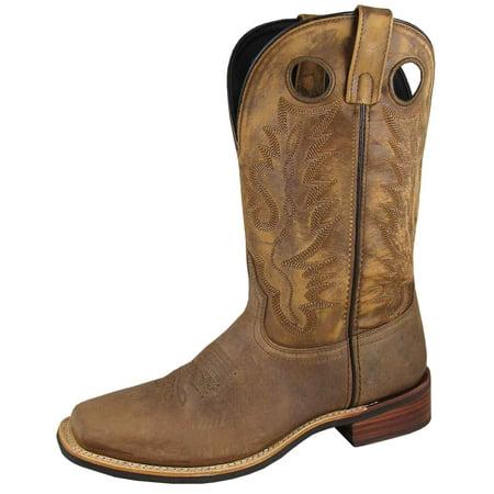 "Smoky Mountain Men's 11"" Timber Brown Distress Western Boots 4052"