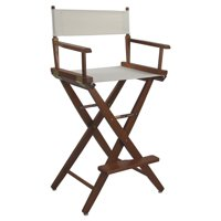 "Extra-Wide Premium 30"" Directors Chair Mission Oak Frame W/Natural Color Cover"