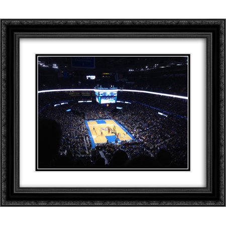 Chesapeake Energy Arena 2X Matted 24X20 Black Ornate Framed Art Print From The Stadium Series