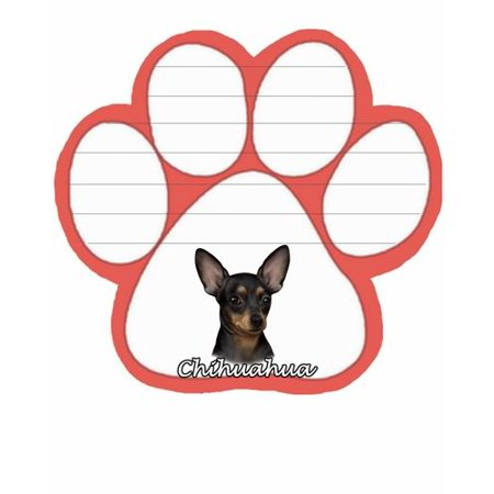 Black Chihahua Dog Paw Magnetic Note Pad