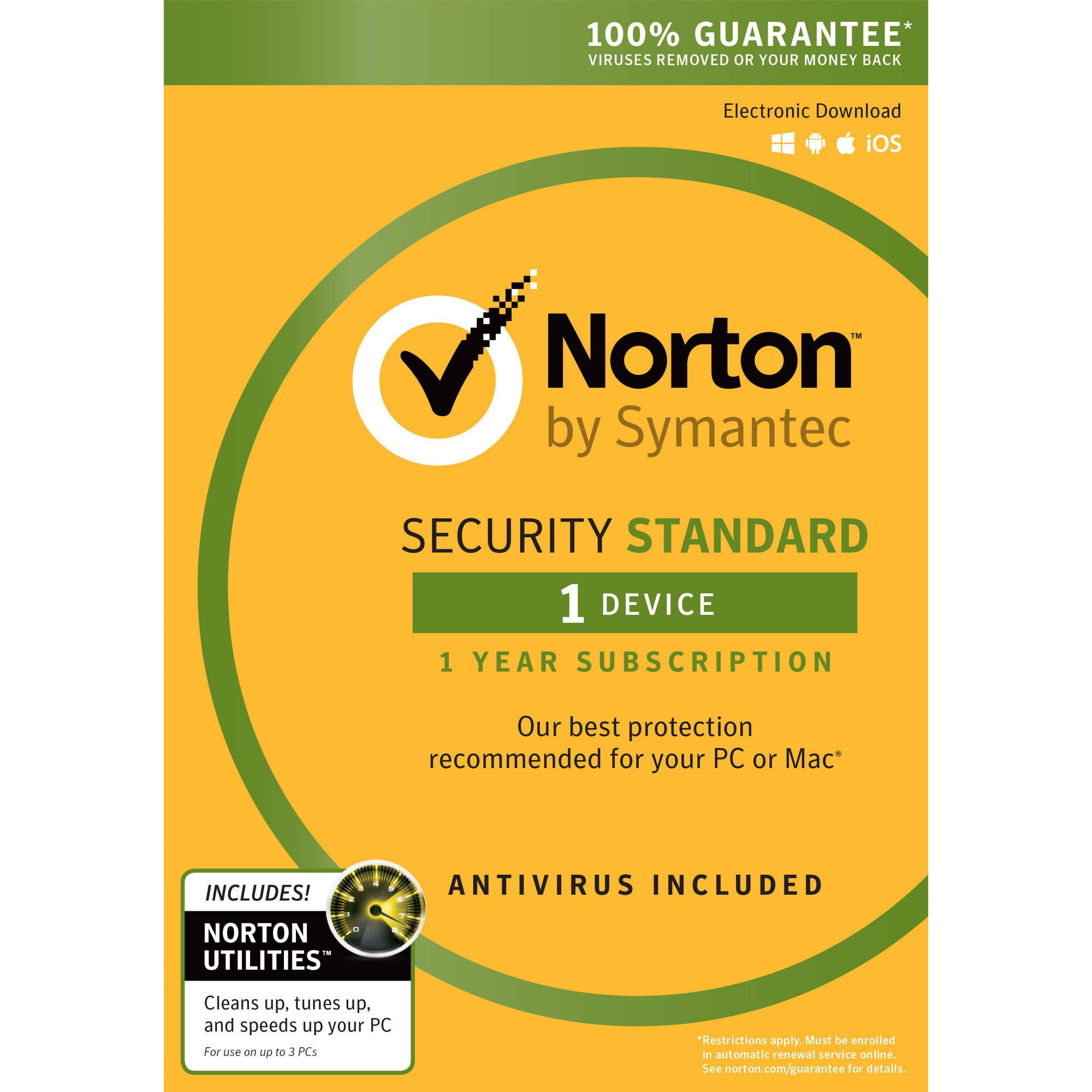 Software Estándar de seguridad de Norton, 1 usuario, 3 dispositivos además de Norton Utilities + Norton en Veo y Compro