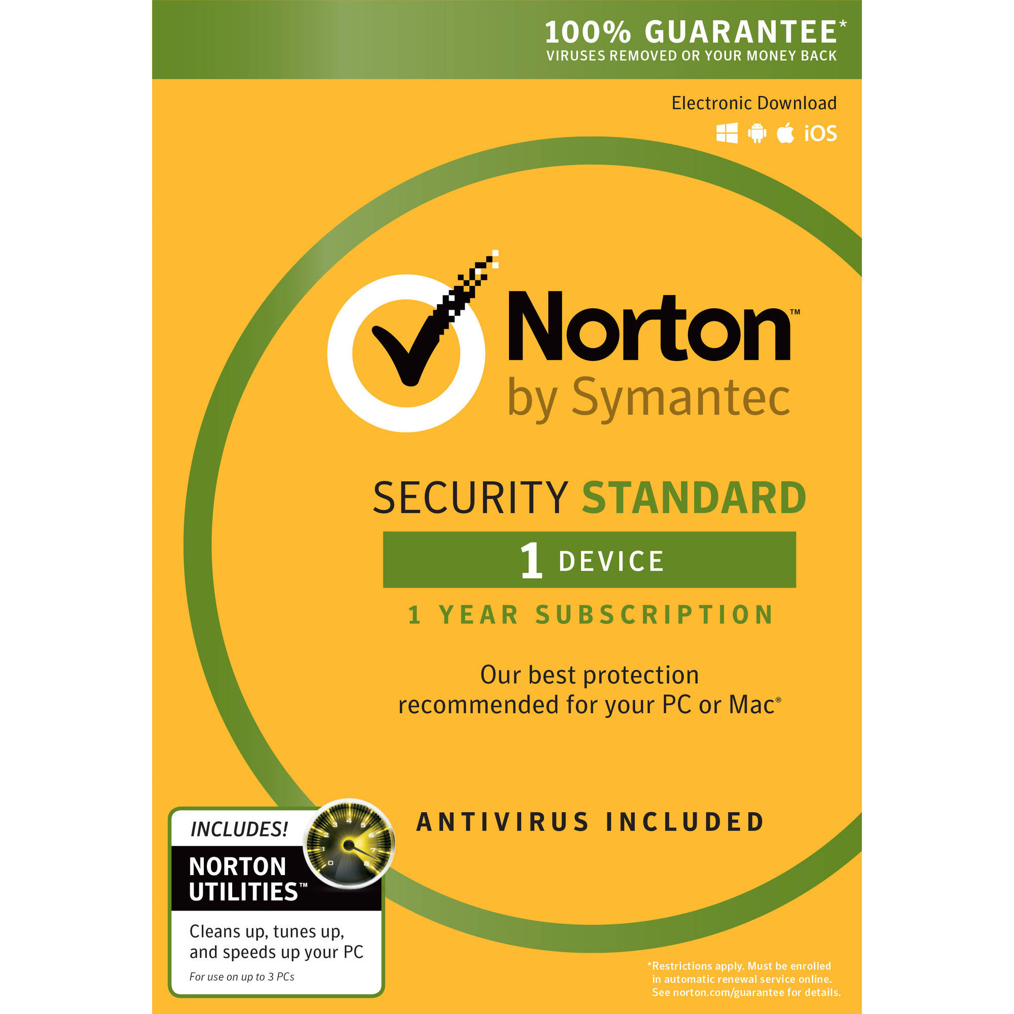 Norton Security Standard, 1 User, 1 Device plus Norton Utilities
