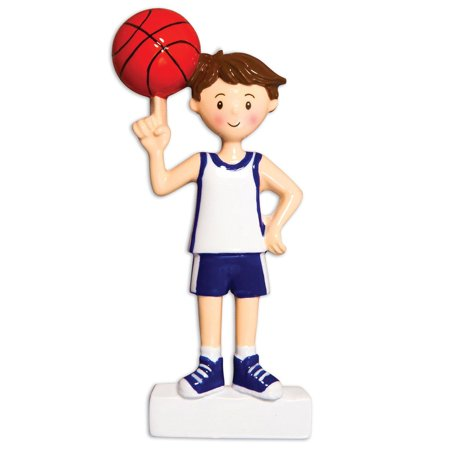Sports Boy BASKETBALL Player Personalized Christmas Ornament -
