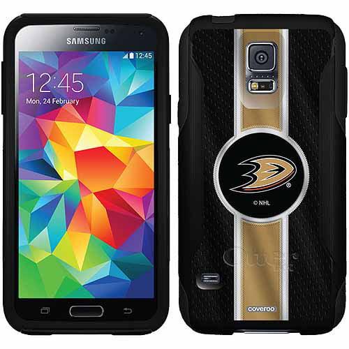 Anaheim Ducks Jersey Stripe Design on OtterBox Commuter Series Case for Samsung Galaxy S5