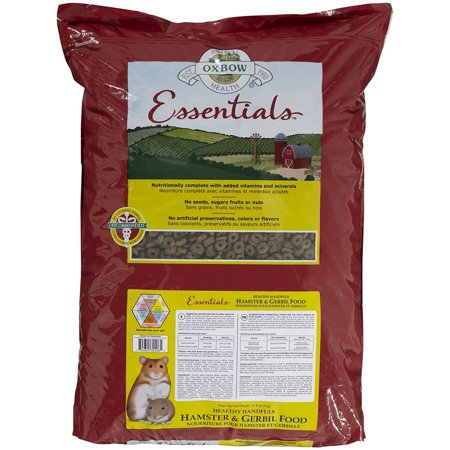 Animal Health Healthy Handfuls Essentials Hamster/Gerbil Food, 15-Pound, Timothy Hay = Beneficial Fiber By Oxbow