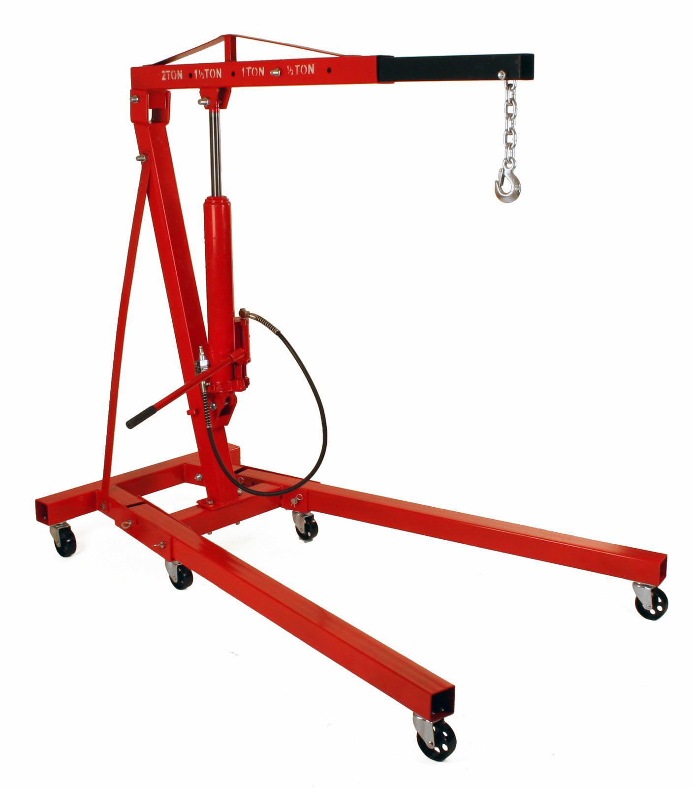 Dragway Tools 2 Ton Folding Air Hydraulic Engine Hoist Cherry Picker Shop Crane Hoist Lift by Dragway Tools