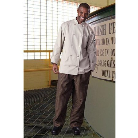 4003-3508 Yarn Dyed Baggy Chef Pant in Black/Copper Stripe -