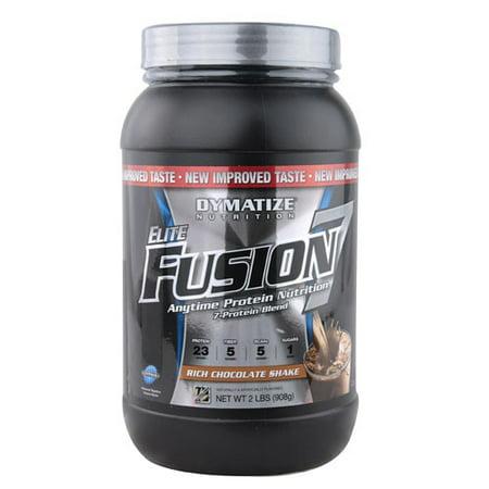 Dymatize Elite Fusion 7 Protein Powder, Rich Chocolate Shake, 2 Lb