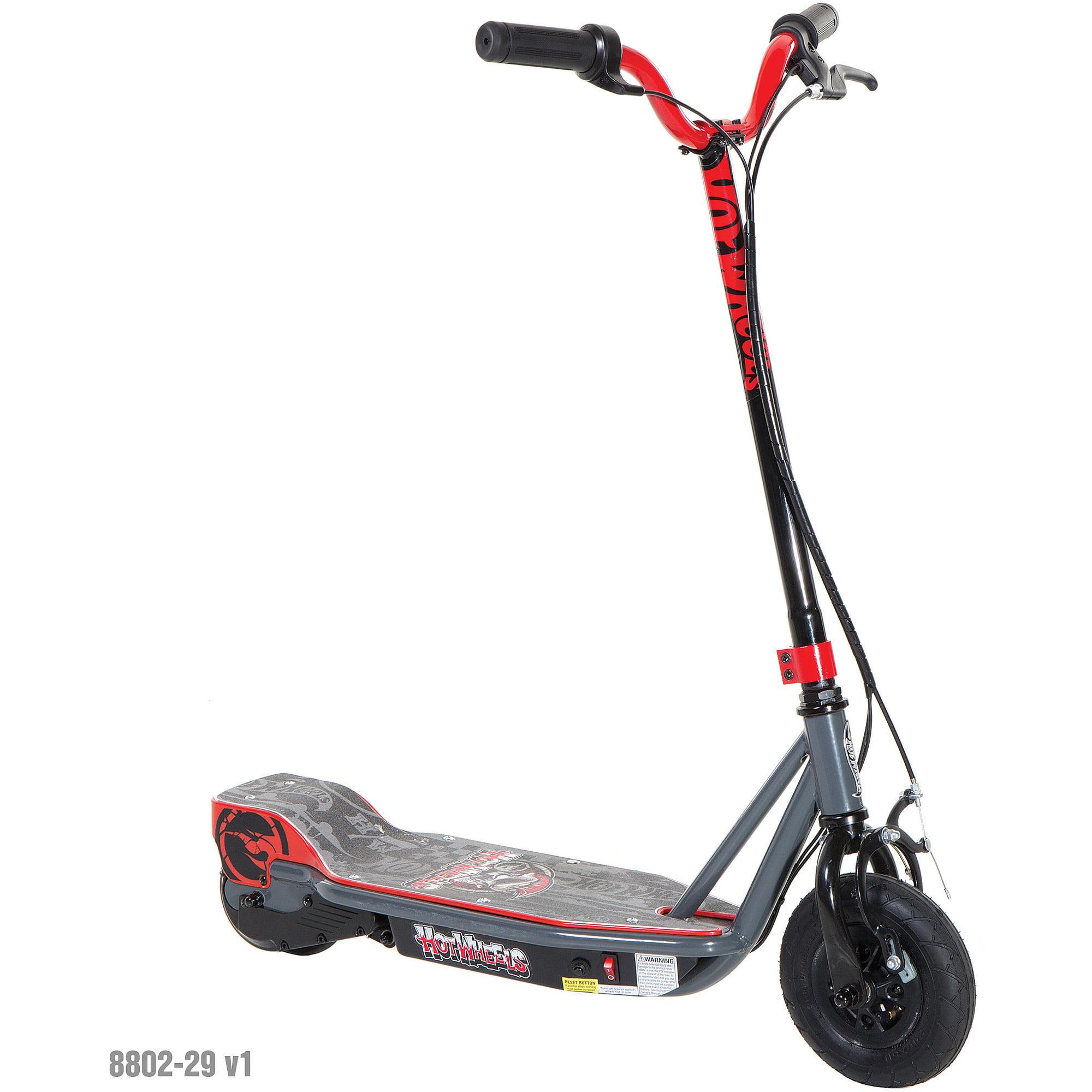 Hot Wheels Boys' 24V Step Up Scooter, Black