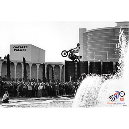 Evel Knievel - Caesars Palace Jump Poster (36x24) in a Black Poster ...