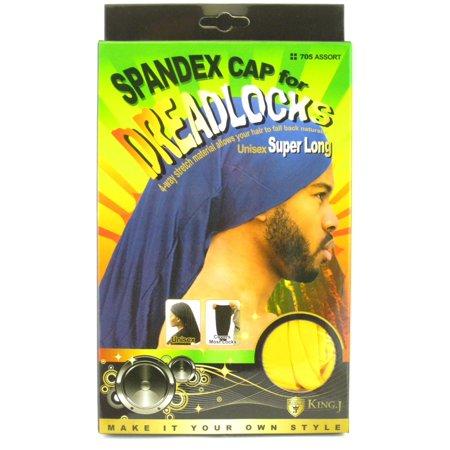 King.J Super Long Unisex Spandex Cap For Dreadlocks (Yellow)](Accessories For Dreadlocks)