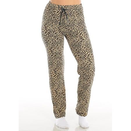 Animal With Womens (Womens Juniors Cute High Waisted Animal Print Sleepwear Stretchy Pajama Pants)