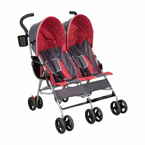 Delta Children City Street Side-by-Side Double Stroller, Grey