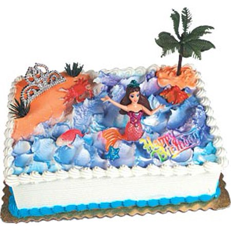 Awe Inspiring Mermaid Cake Kit Cake Adornments 1 Kit Walmart Com Walmart Com Funny Birthday Cards Online Overcheapnameinfo