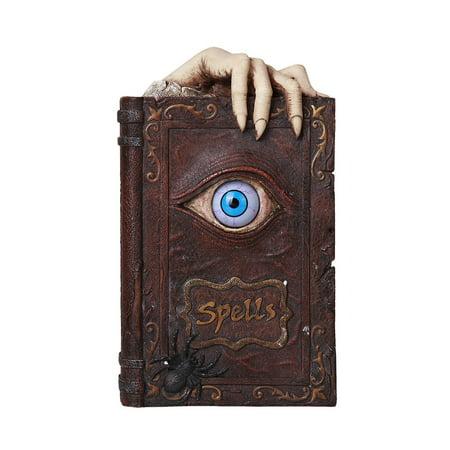 Ebros Evil Eye Book of Spells Resin Money Bank Halloween Decor Gothic Collectible 8.25 Inches