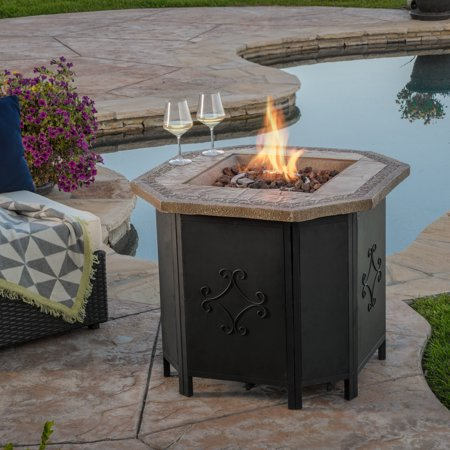 Riley 30 Inch Copper Octagonal Magnesium Oxide Gas Fire