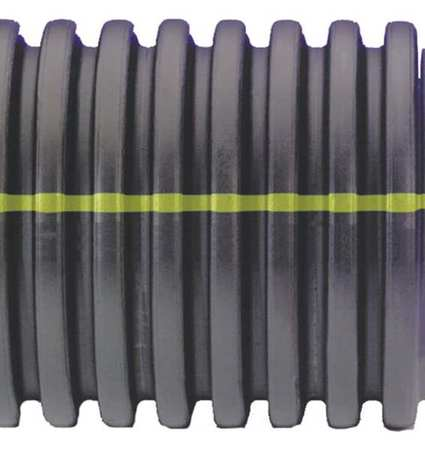 ADS 15510020 Corrugated Drainage Pipe,20 ft. L,Solid