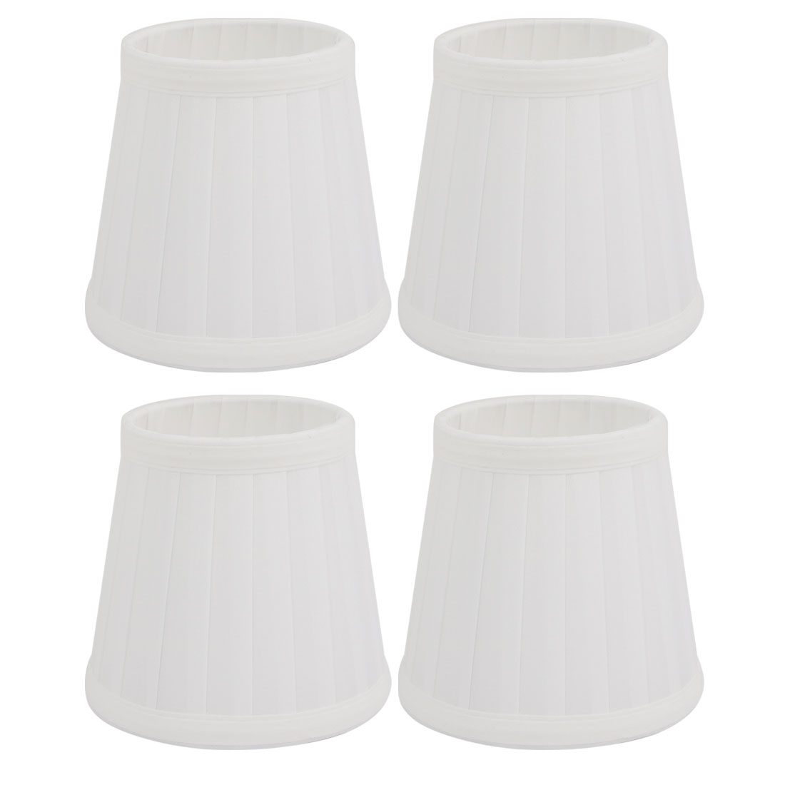 4pcs DropLight Wall Shade Chandelier Clip-On Lampshade White Fabric-Covered by