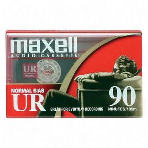 Maxell UR 90 Minute Cassette Audio Tape 15 Pack + Free Shipping Audio Cassette Label Template