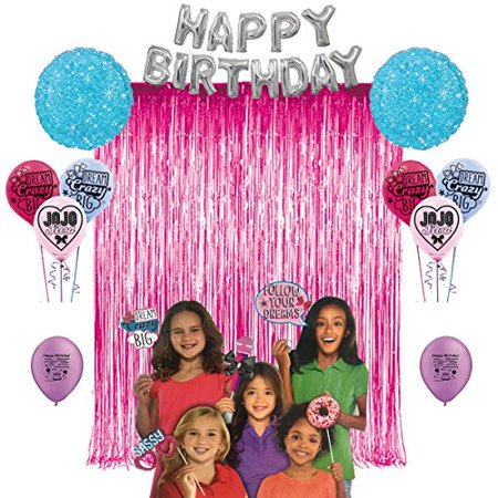 JoJo Siwa Birthday Party Photo Booth Props Balloons Decoration Kit - Party Props