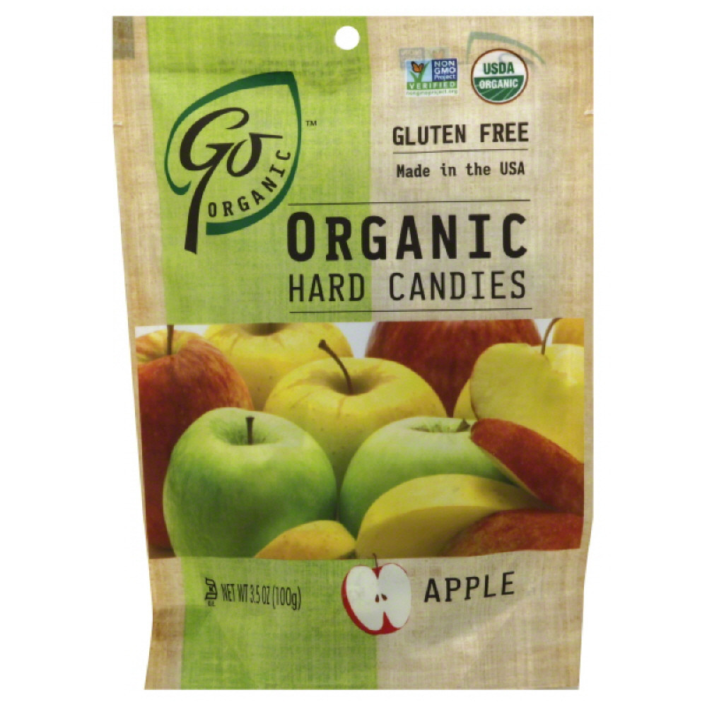 Go Organic Apple Organic Hard Candies, 3.5 Oz (Pack of 6)