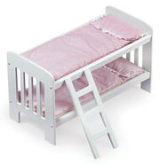 "Badger Basket Gingham Doll Bunk Bed with Bedding and Ladder - White/Pink - Fits American Girl, My Life As & Most 18"" Dolls"