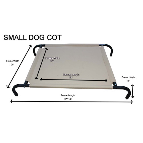 K9 Kennel Heavy-Duty Canvas Cot Dog Furniture Style