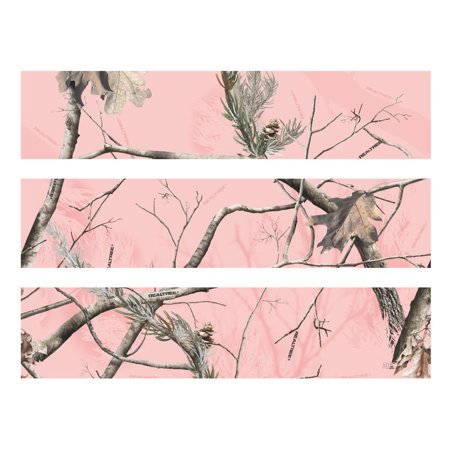 Real Tree RealTree Pink camo edible cake strips cake topper - Camouflage Wedding Cakes