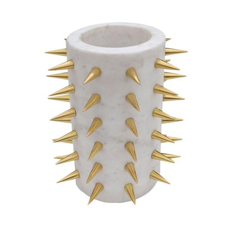 R16 Home Furniture AO-13GG Euclid Grey Stud Vase - image 1 of 1