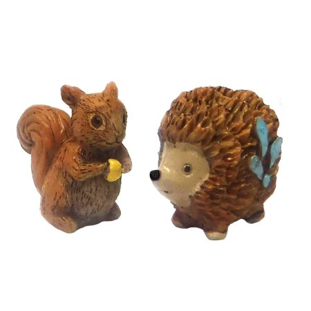 Forest Animal Set (Giftcraft Set of 2 Miniature Fairy Garden Enchanted Forest 1