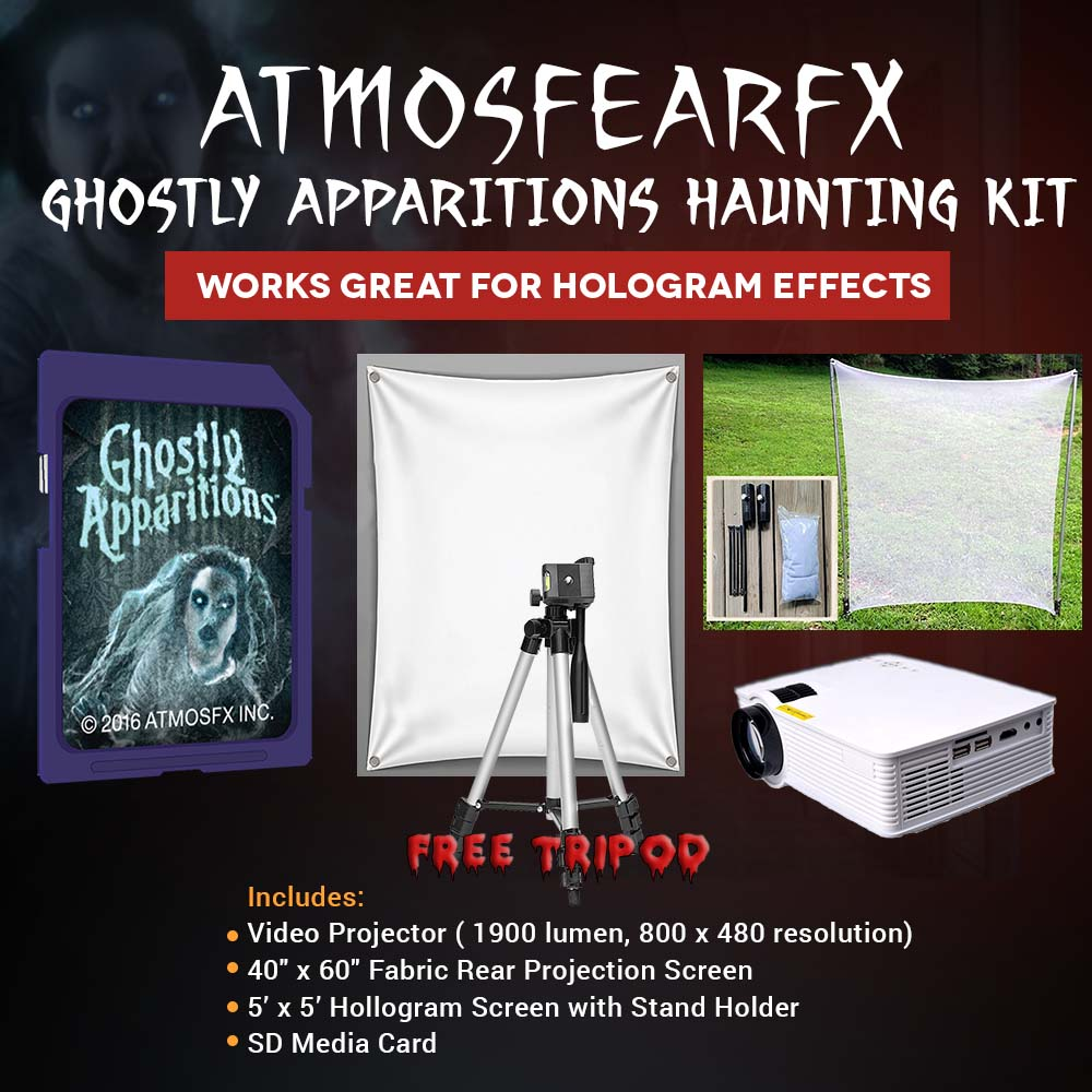 halloween atmosfearfx ghostly apparitions video projector kit, 1900