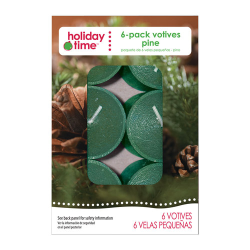 Holiday Time 6-Pack Votives, Pine