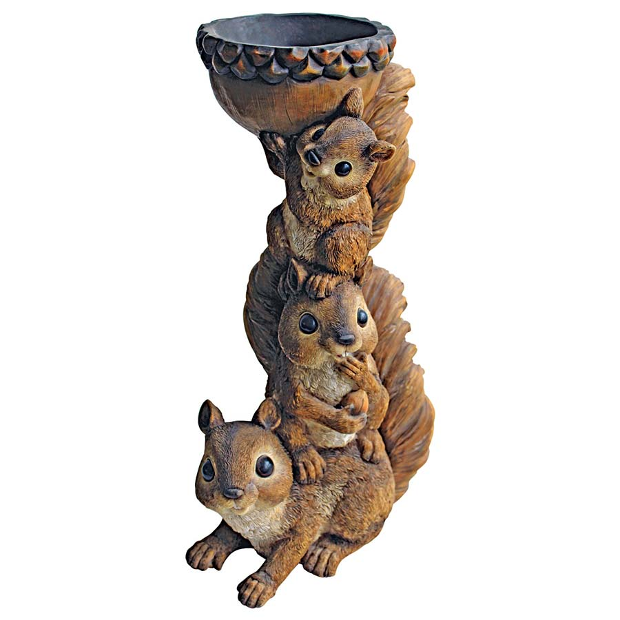 Three's a Crowd, Stacked Squirrel Statue
