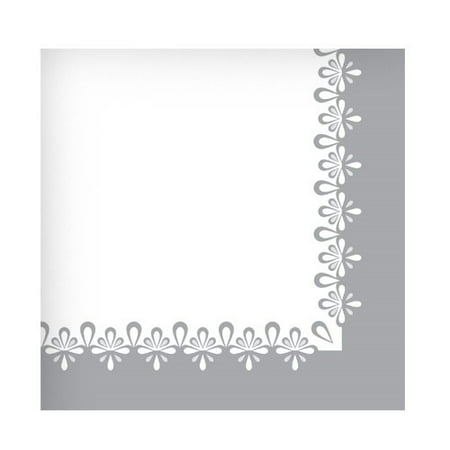 Hanna K Everyday Ensembles Beverage Napkins, Precious Silver, 75 Ct](Grey Paper Napkins)
