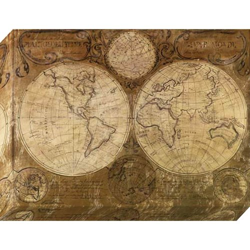 Pinnacle 30x40 Vintage Map Canvas Art
