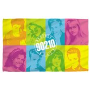 Beverly Hills 90210 Color Blocks Beach Towel White 36X58