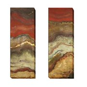 Artistic Home Gallery 'Tierra Panel I and II' by Patricia Pinto  2 Piece Painting Print on Wrapped Canvas Set
