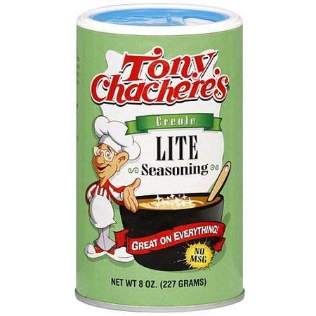 Tony Chacheres Famous Creole Cuisine Lite Creole Seasoning  8 Oz  Pack Of 6