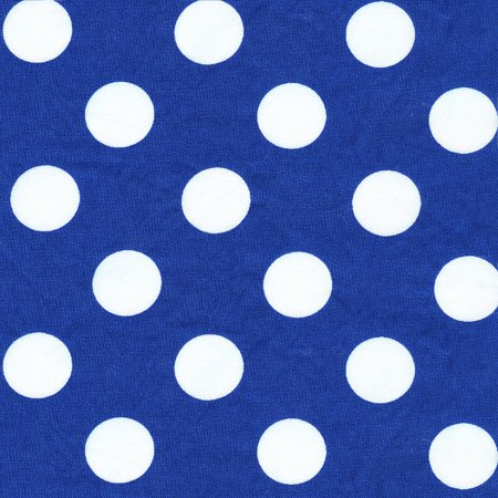SHASON TEXTILE (3 Yards cut) 100% COTTON PRINT QUILTING FABRIC, LAPIS / WHITE BIG DOTS.