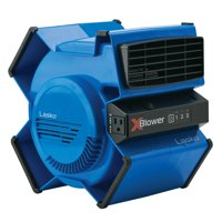 Lasko X-Blower 6-Position Utility Blower Floor Fan with 3 Speeds and accessory outlet (Blue)