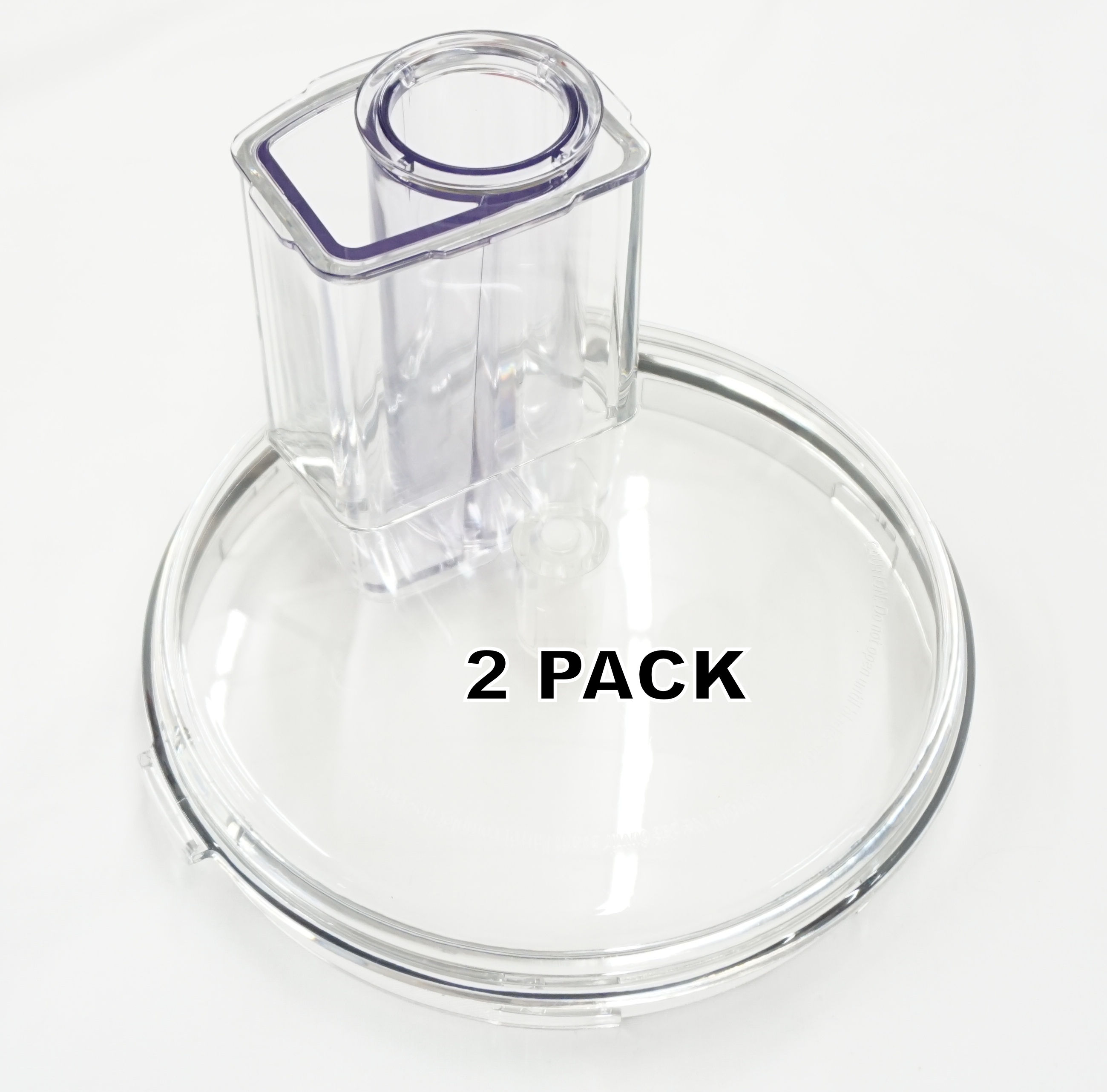 2 Pk, 7-Cup Food Processor Bowl Cover for KitchenAid, AP5806262, W10674952