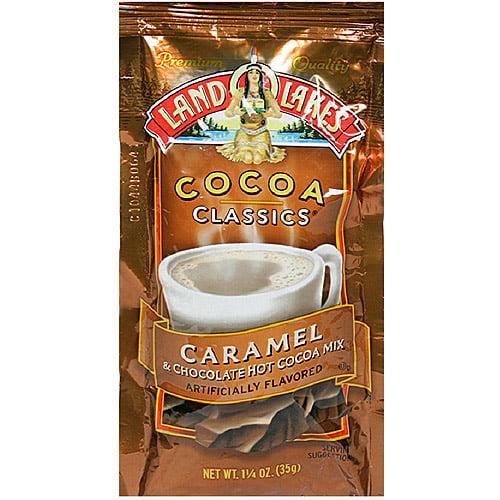 Land O Lakes Cocoa Classics Caramel & Chocolate Hot Cocoa Mix, 1.25 oz (Pack of 12)