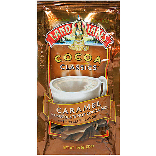 Land O Lakes Cocoa Classics Caramel & Chocolate Hot Cocoa Mix, 1.25 oz (Pack of 12)